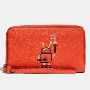 NWT COACH F12187 keith haring phone wallet